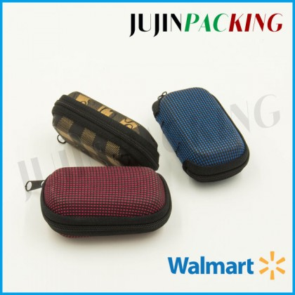 Zipper pocket eva hard folding glasses case