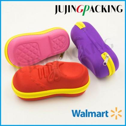 Shoes shape funny design kids cute eyeglasses case