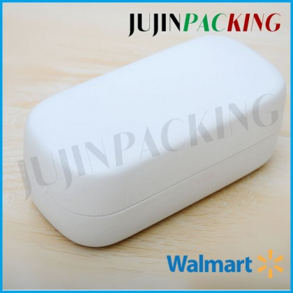 White Leather hard sunglass case