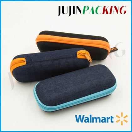 Cool style jean fabric surface eyewear case optical case
