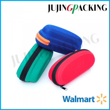 Durable large microfiber surface eva sunglass case