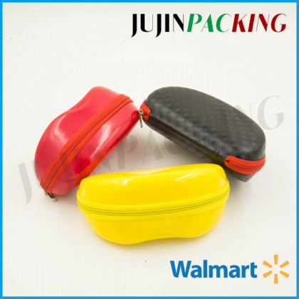 Bright red color or yellow color PU surface eva sunglass case