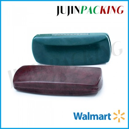 Grained leather designer eyeglass cases