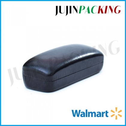 Black leather large eyeglass cases